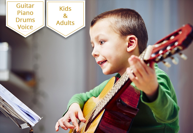 2 x Private Instrument or Voice Lessons at Music Arts Academy