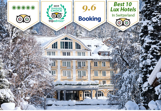 Grand Bellevue Gstaad Hotel: Overnight Stay + Gourmet Dinner for 2