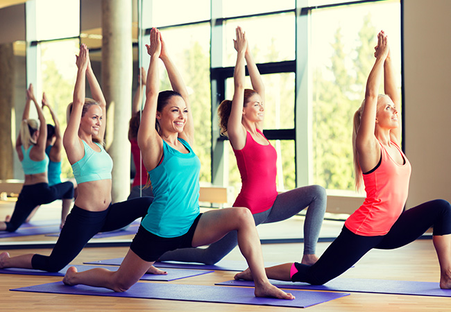 Recommended by 100% of BuyClubbers  10 Pilates / Yoga Group Classes at Swiss Pilates & Yoga (Rive)  19 classes per week for all levels, rated 5 stars on Facebook  Photo