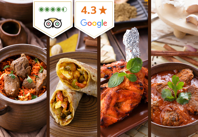 Indian at Safran: 9-Dish Dinner for 2