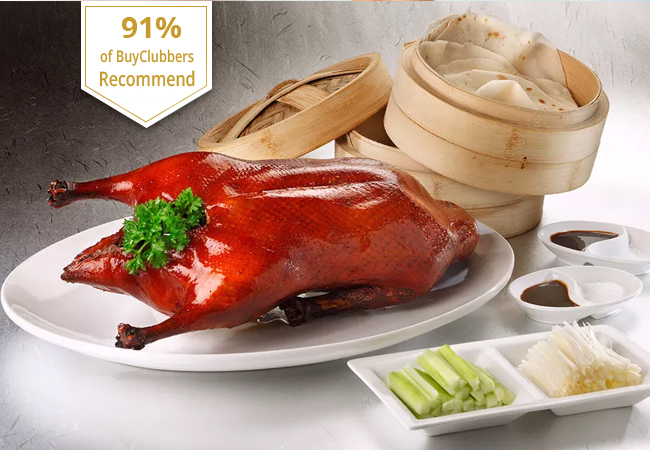 Recommended by 91% of BuyClubbers  3-Service Traditional Chinese Peking Duck for 2 at La Baguette d'Or (Plainpalais)  Delicious Chinese speciality dish served the traditional 3-service way at this long-standing restaurant with great reviews. Valid 7/7 dinner & lunch  Photo