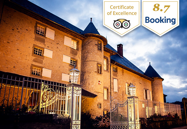 Tripadvisor Certificate of Excellence  Fairytale Castle Escape in French Savoie at Château des Comtes de Challes (1h10 from Geneva, 1h50 from Lausanne) Ever wake up in castle? Here's your chance. Valid 7/7 til December 2020 without any black-out dates  Photo