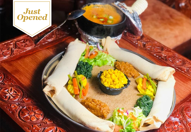 Just Opened  Traditional Eritrean Cuisine at Hidmona (Center Town): 3-Course Meal for 2 People  Geneva's newest Eritrean restaurant is already rated 4.8 stars on Google, and serves authentic African delights  Photo