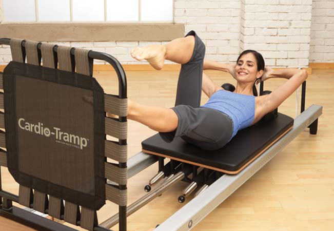Recommended by 94% of BuyClubbers Small-Group (Max 4 People) Pilates Machine Classes at Flex & Flow (Plainpalais). Choose 5 or 10 ClassesClasses Mon-Sat in a variety of Pilates styles using reformer, Cadillac, chair & more. In English  Photo