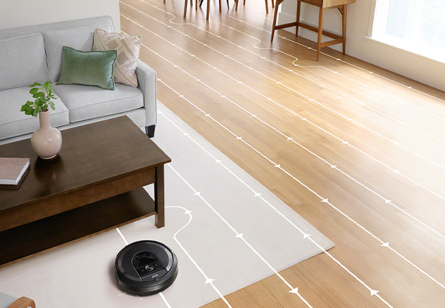 """Most advanced robot vacuum we tested"" - PC Mag  Roomba® i7158 Advanced Robot Vacuum Cleaner with 2 Year Warranty  Roomba's most advanced WiFi-connected robot vacuum does the hard work for you: its 3-step cleaning system and room mapping deliver superior cleaning throughout the home  Photo"