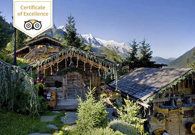 Tripadvisor Certificate of Excellence  Chamonix Getaway for 2-10 People at Les Chalets de Philippe: € 500 Credit Towards Stay in Any Chalet/SuiteUnique chalet-village with 9 chalets to choose from, Michelin restaurant, on-site spa facilities & more. 10-min drive from Chamonix-center  Photo