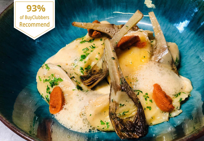 Sale Extended  Italian Cuisine at Scaramu 7/7 (Eaux-Vives): ​Recommended by 93% of BuyClubbers. 1 Voucher = CHF 100 Credit  Sardinia & Campania specials at this Italian restaurant with Superb reviews  Photo