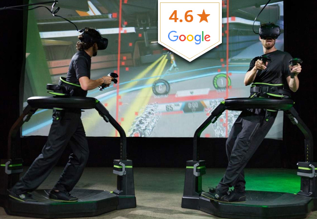 4.6 Stars on Google  Virtual Sphere: Geneva's 1st VR Game Arena with 360° Unlimited Full-Speed Movement. 1 Voucher = 3 Games  Next-generation VR games for 1-6 people (adults or kids, playing solo or group) with full movement. VR never felt this real!  Photo