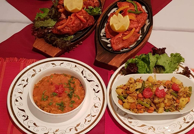 5 Stars on Facebook  Indian at Sajna (Paquis): CHF 100 Credit. Valid Dinner 7/7 & Lunch Sun-Thu  Sajna is not only top-rated, but was also chosen to cater for the Bangladesh Prime Minister's visit to Switzerland  Photo