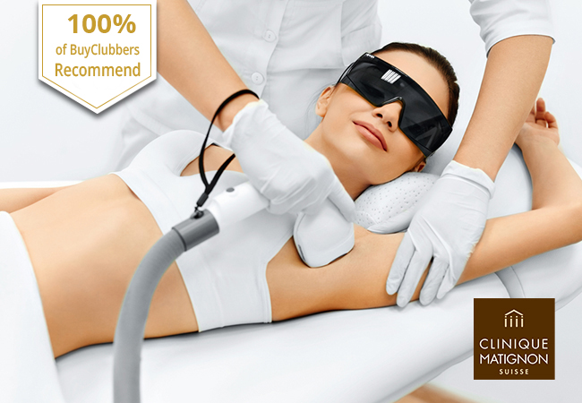 Recommended by 100% of BuyClubbers  [Nyon & Lausanne] Laser Hair Removal at Clinique Matignon in Nyon, Lausanne, Vevey & More Locations   Pay CHF 299 for CHF 600 Credit Pay CHF 589 for CHF 1200 Credit Pay CHF 1099 for CHF 2400 Credit   Photo