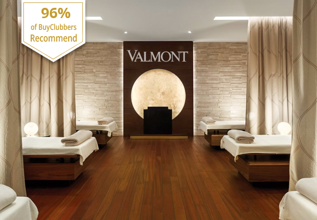 Recommended by 96% of BuyClubbers  VALMONT® Spa at the 5* Fairmont Grand Hotel Geneva, Valid 7/7  Choose: Massage (relaxing or Ayurvedic), Facial, Duo-massage, or Reflexology  Photo