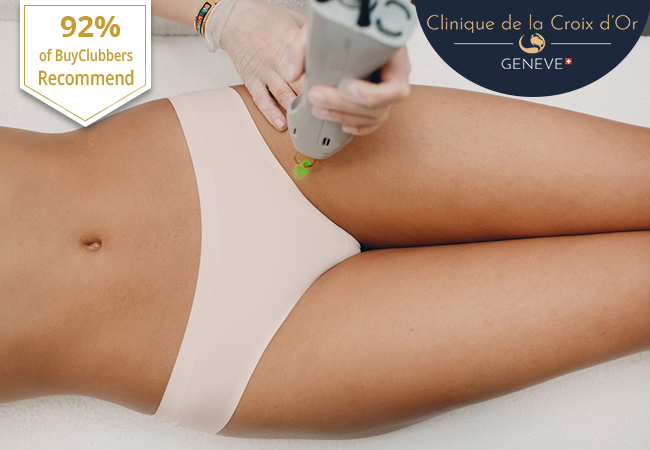 Recommended by 92% of BuyClubbers [Open during lockdown] ​Laser Hair Removal on Any Body Part at Clinique de la Croix d'Or (Center Town):   	Pay CHF 299 for CHF 600 Credit 	Pay CHF 589 for CHF 1200 Credit 	Pay CHF 1099 for CHF 2400 Credit   Photo