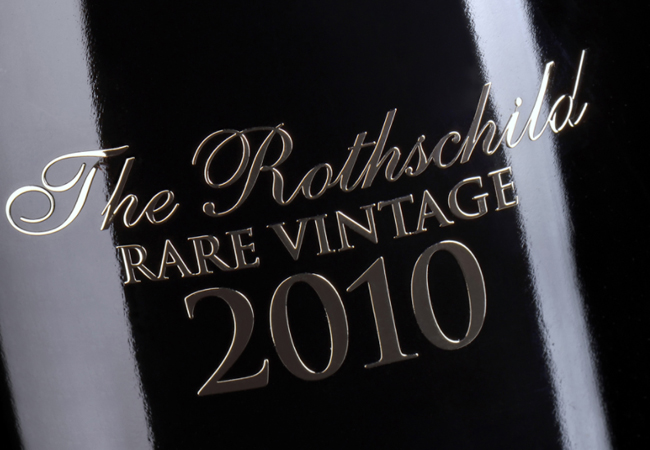 Free Pre-Valentine Delivery Barons de Rothschild Champagnes: Limited-Edition Wood Gift Box with 3 Rothschild Bottles:    Rare Vintage 2010 Blanc de Blancs Brut    Photo