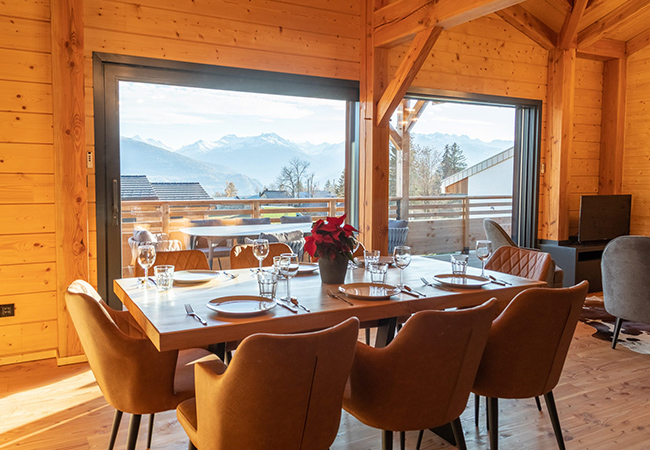 Valid til July 1, 2021 ​Anzère (Valais) Getaway: 2-Nights for Up to 8 People in Private Chalet at the Just-Opened Woodland Village ResortThis eco-friendly chalet village - 10 minutes from the ​Anzère lifts - is perfect for winter & summer. Just 2h from Geneva & 1h20 from Lausanne  Photo