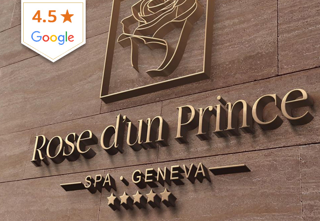 4.5 Stars on Google Rose d'un Prince Spa (Champel)   1h Facial 160 69 1h Massage: 200 79 2h15 Body Ritual: 260 129   Beautiful Champel spa offering pampering treatments, premium facilities & great open hours  Photo