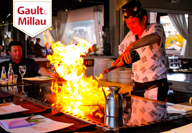 50 Vouchers Added Japanese at MIYAKO (near Manor): 5-Dish Signature Teppanyaki Menu for 2 People  A unique Teppanyaki experience not only with superb Japanese dishes of sushi, seafood & grilled meats, but also with chef theatrics right at your table  Photo
