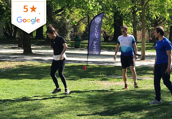5 Stars Google  10 Group Sports Classes (HIIT Bootcamp, Strength, Running, Pilates & More) with Shape Shack Eaux-Vives. Outdoors or Inside, Depending on Weather & Class Type  Choose from 15 classes per week Mon-Sat  Photo