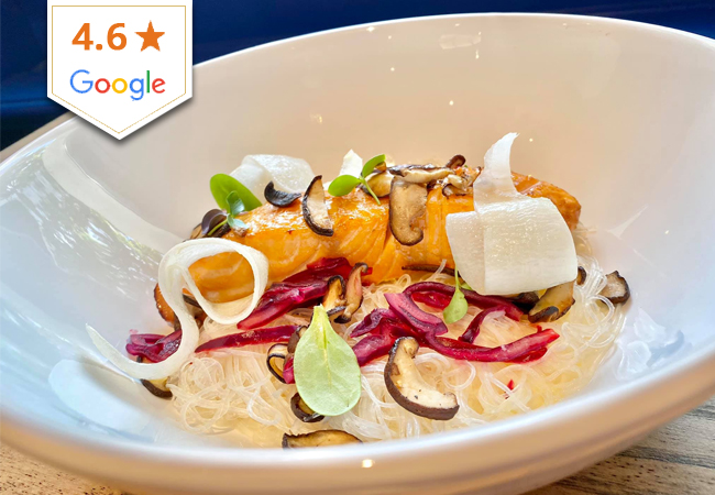 4.6 Stars on Google Seafood & Fish at OCTOPUS (Champel): CHF 120 Credit Valid 7/7 Dinner & Lunch  Recently-opened and highly-rated, Octopus serves all kind of fresh seafood & fish with a focus on signature octopus dishes  Photo