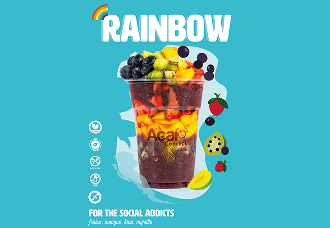 5 Stars on Facebook  Açai Bowls at AçaiConcept (Geneva & Lausanne). 1 Voucher = Punch-Card for 5 Bowls To-Go  These bio superfood bowls are delicious, packed with nutrients, and fully customizable. You can use as many 'punches' per visit as you want  Photo