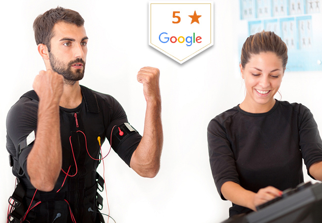 """""""20 minutes EMS = 90 minutes gym"""" - The Guardian  EMS (Electric Muscle Stimulation) Personal Trainings at Chronosculpt Eaux-Vives: Rated 5 Stars on Google Choose 1 or 3 sessions, and get the benefits of a 90 minutes workout in 20 minutes flat  Photo"""