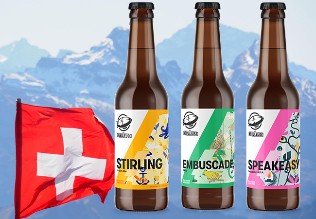 Made in Swiss Romande 24 x Artisanal Mixed Beers from La Nébuleuse Microbrewery in Vaud. Includes Delivery  24 bottles includes: Pale Ale, 8 x IPA, 8 x Session IPA  Photo