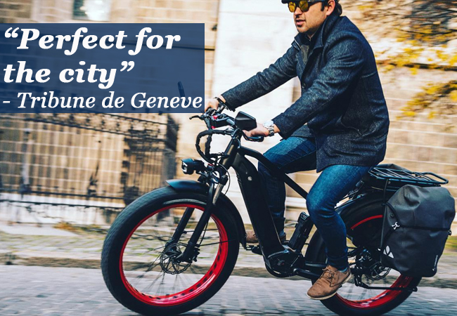 """""""A new generation of e-bikes"""" - Le Temps BEAST E-Bike by Miloo Geneva: 'Classy' Model (25km/h) or 'Mighty' Model (45km/h)Conquer city streets & country roads with Miloo's powerful & feature-packed e-bikes. Incl assembly, 1st Service & 2-Year Warranty     Photo"""